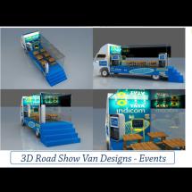 3D Road Show Van Designs - Events